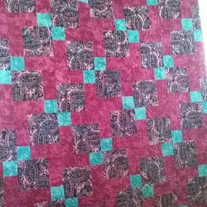 Other - Colorful Patchwork Quilt Throw Size